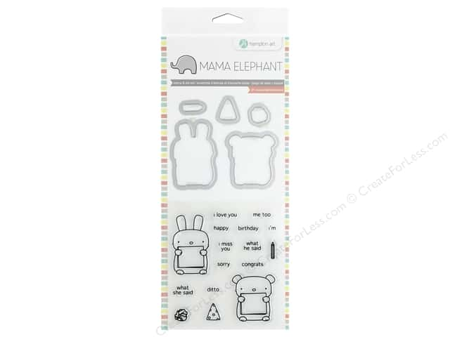 Mama Elephant Clear Stamp & Die Set Dos Amigos