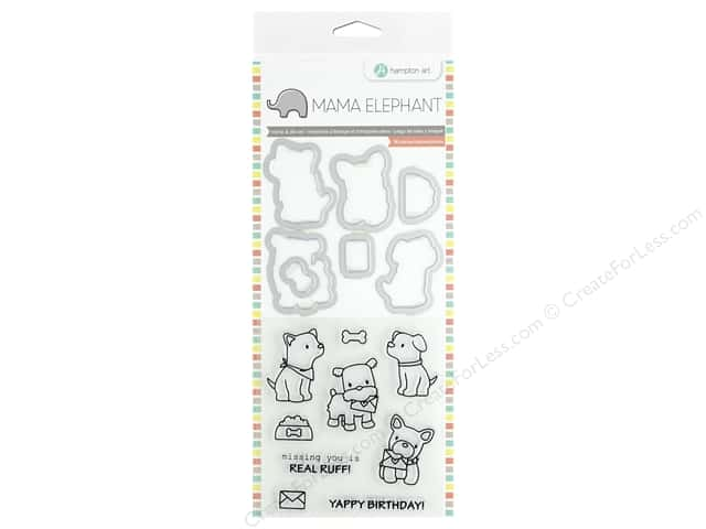 Mama Elephant Clear Stamp & Die Set Puppy Play