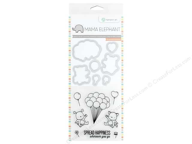 Mama Elephant Clear Stamp & Die Set Up We Go