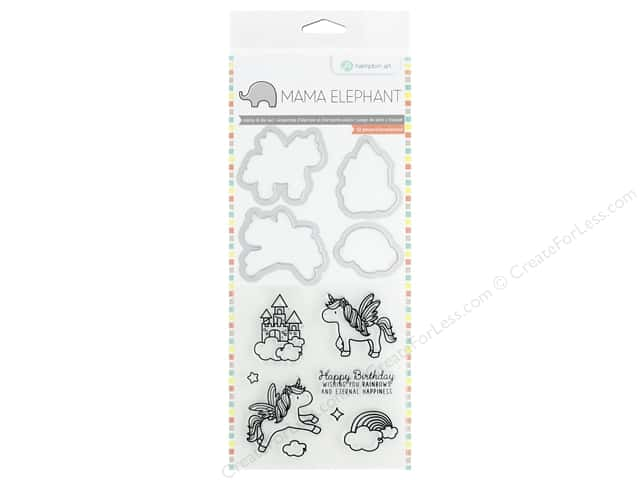 Mama Elephant Clear Stamp & Die Set Over The Rainbow