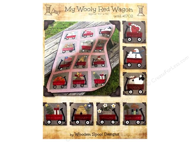 Wooden Spool Designs My Wooly Red Wagon Pattern