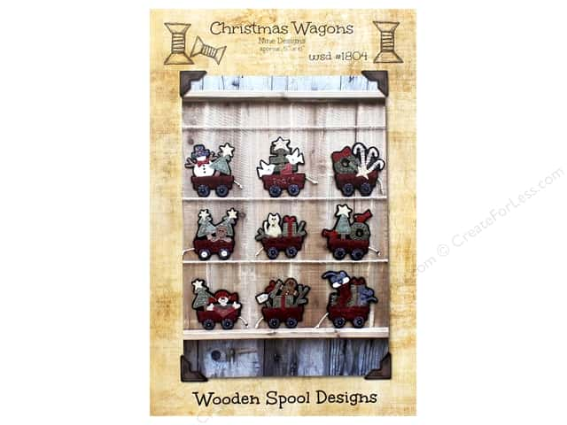 Wooden Spool Designs Christmas Wagon Pattern