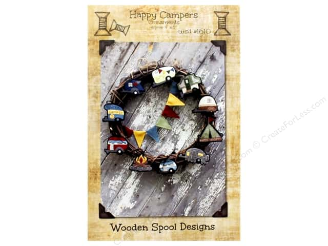 Wooden Spool Designs Happy Campers Pattern