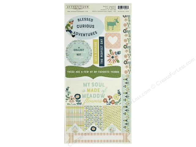 Authentique Collection Meadow Die Cut 6 in. x 12 in. Components (12 pieces)