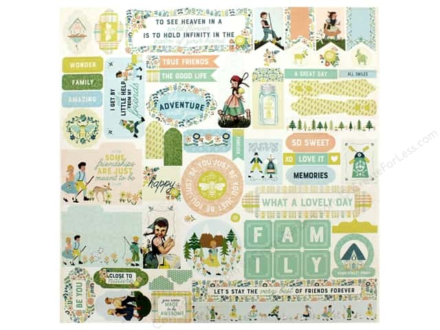 Authentique Collection Meadow Sticker 12 in. x 12 in.Details (12 pieces)