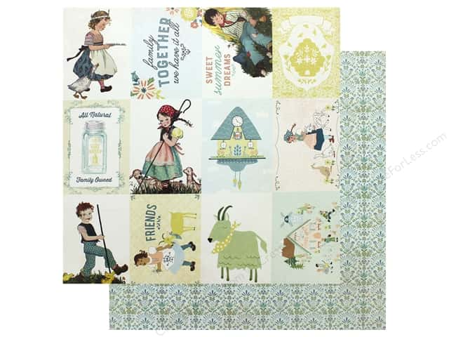 Authentique Collection Meadow Paper 12 in. x 12 in.Eight (25 pieces)