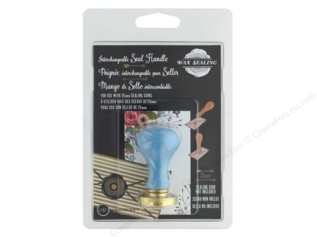 Manuscript Wax Sealing Blue Handle 25 mm