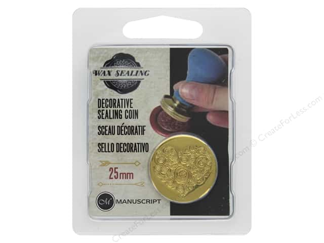 Manuscript Wax Sealing Coin 25mm Ornate Heart