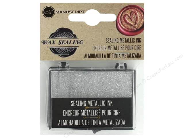 Manuscript Wax Sealing Ink Pad Metallic Silver