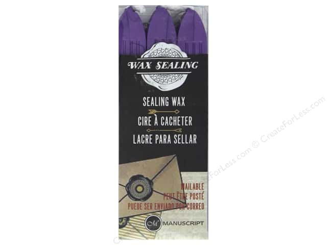 Manuscript Wax Sealing Wax with Wick 3 pc Lilac