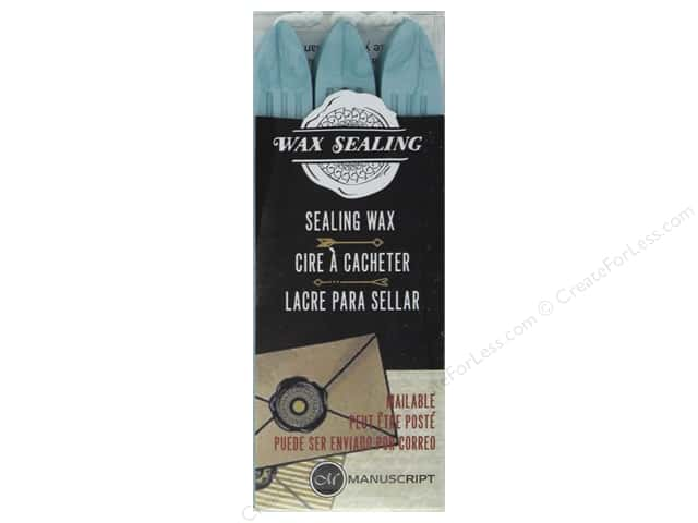 Manuscript Wax Sealing Wax with Wick 3 pc Aqua