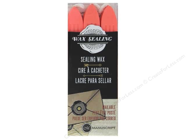 Manuscript Wax Sealing Wax with Wick 3 pc Peach