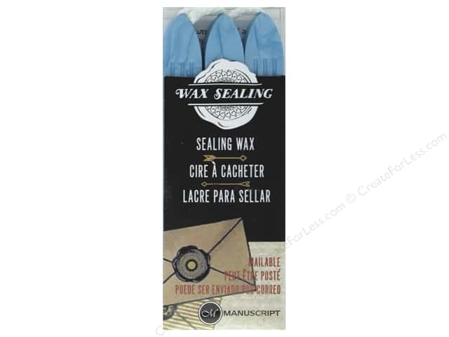 Manuscript Wax Sealing Wax with Wick 3 pc Powder Blue