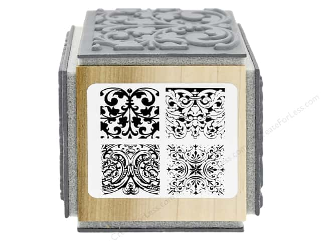 Stampendous Cling Rubber Stamp Fran's Cube Ornate Tiles Texture