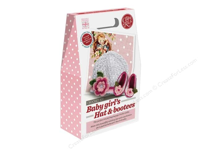 Crafty Kit Company Kit Crochet Baby Girl Hat & Bootees