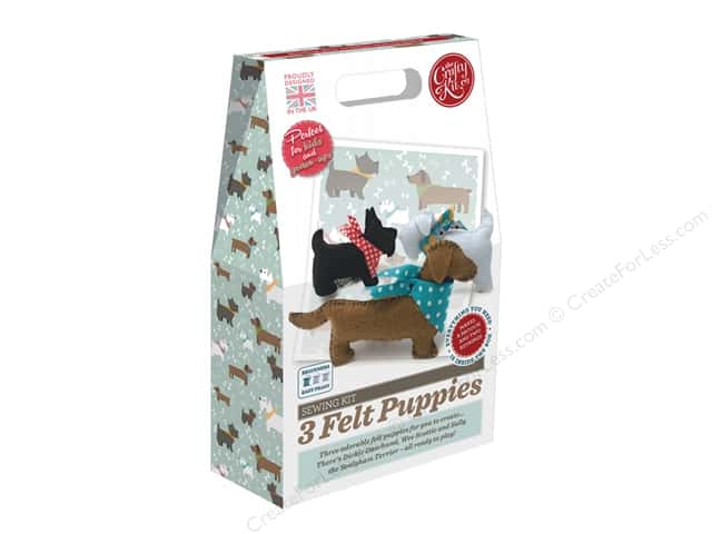 Crafty Kit Company Kit Sewing 3 Felt Puppies