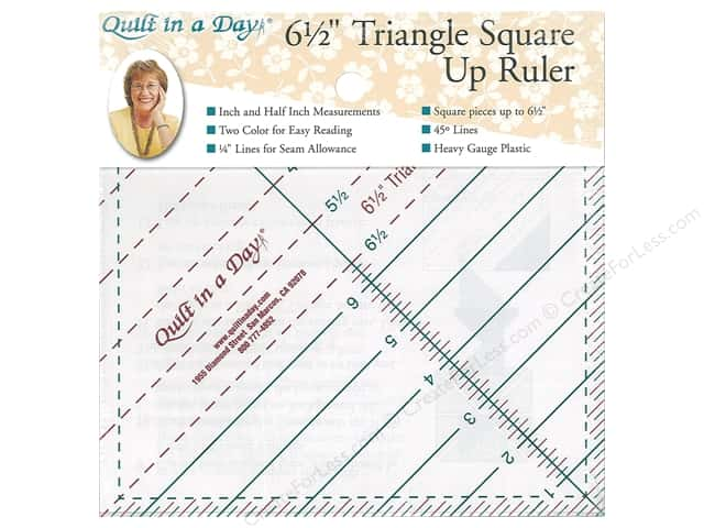 Quilt In A Day Ruler 6.5 in. Triangle Square Up