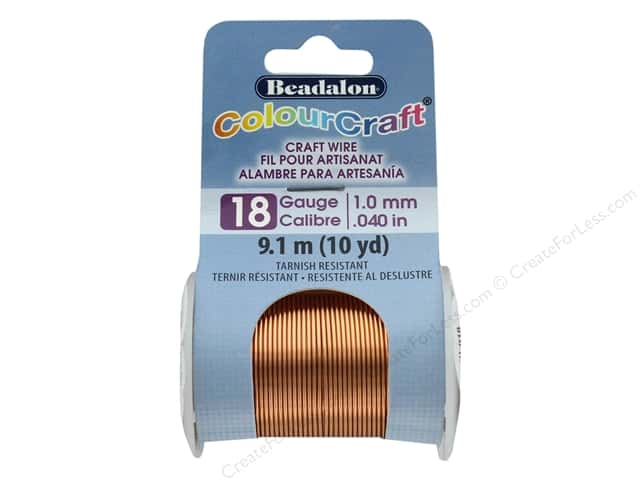 Beadalon ColourCraft Copper Wire 18 ga Copper 10 yd