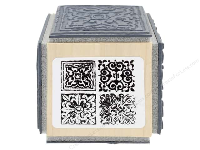 Stampendous Cling Rubber Stamp Fran's Cube Tile