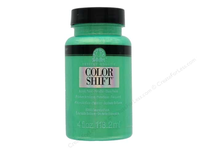 Plaid Folkart Color Shift Paint 4 oz Emerald Flash
