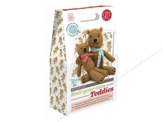 Crafty Kit Company Kit Knitting Teddies