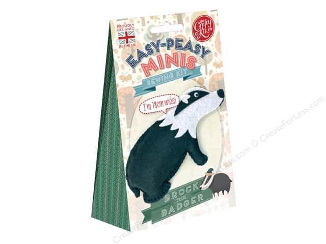 Crafty Kit Mini Kit Brock The Badger