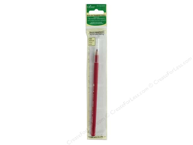 Clover Iron On Transfer Pencil Red