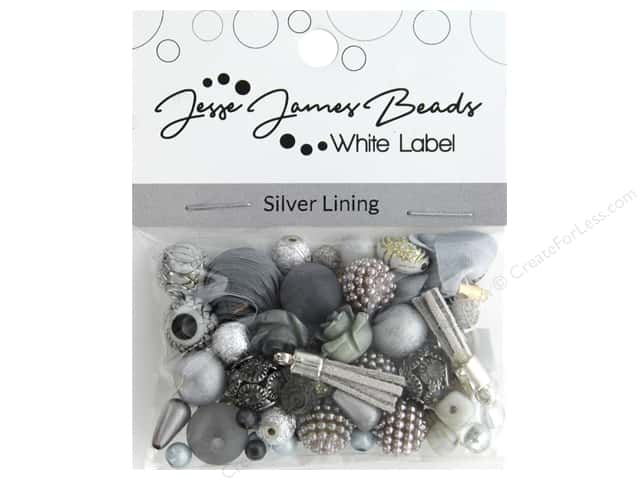 Jesse James Bead White Label Design Element Silver Lining