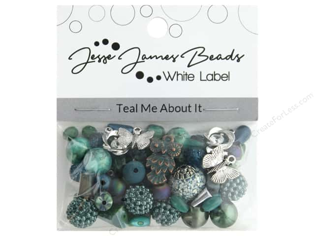 Jesse James Bead White Label Design Element Teal Me About It