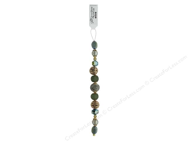 Jesse James Bead White Label Strand Herbaceous