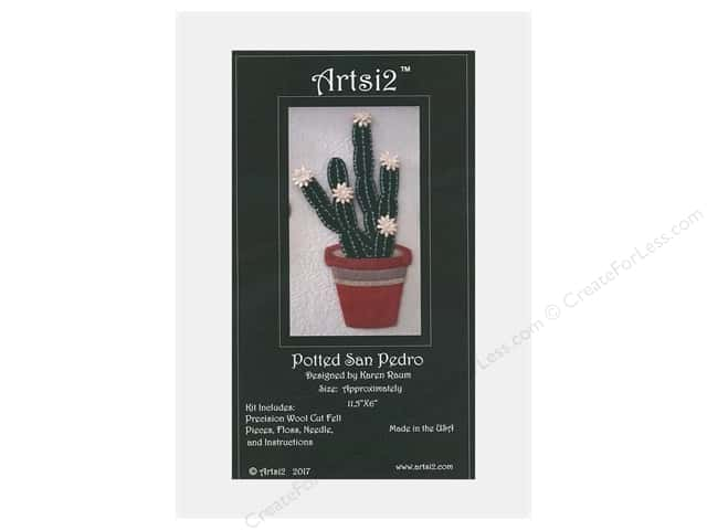 Artsi2 Precision Cut Wool Felt Kit Potted San Pedro