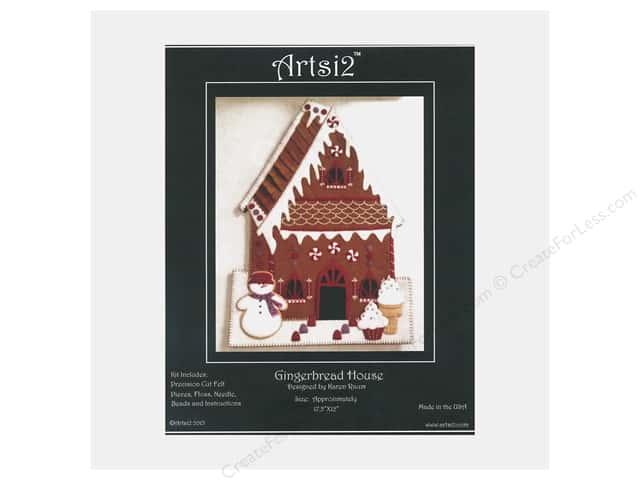 Artsi2 Wool Felt Kit Victorian Gingerbread House