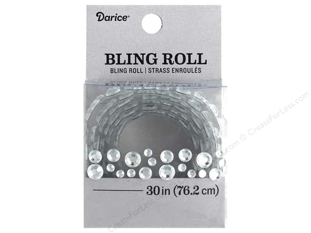 Darice Sticker Bling Roll Rhinestone Cluster 30 in.