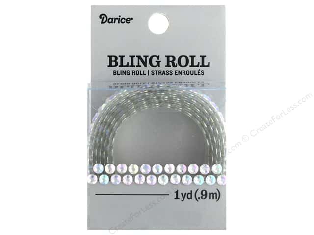 Darice Sticker Bling Roll Double Row Iridescent 1 yd