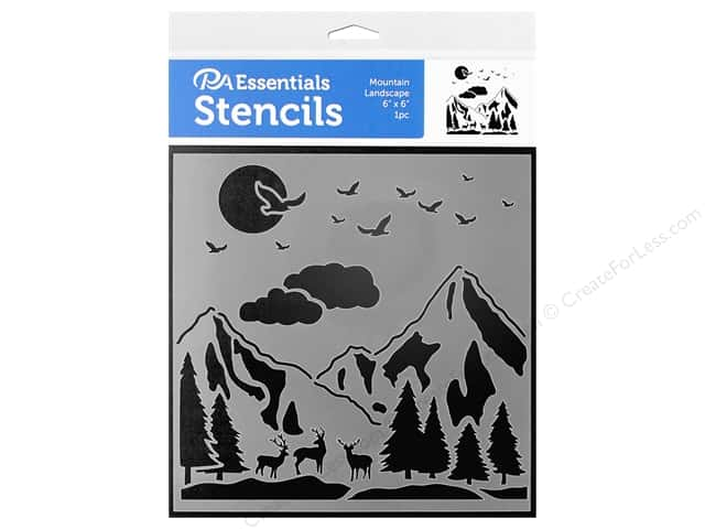 PA Essentials Stencil 6 in. x 6 in. Mountain Landscape
