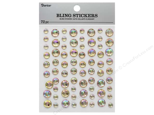 Darice Sticker Bling Rhinestone Rose Gold 72 pc