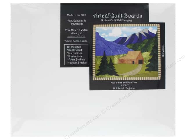 "Artsi2 Quilt Board 13.5""x 11"" Mountains & Meadows"