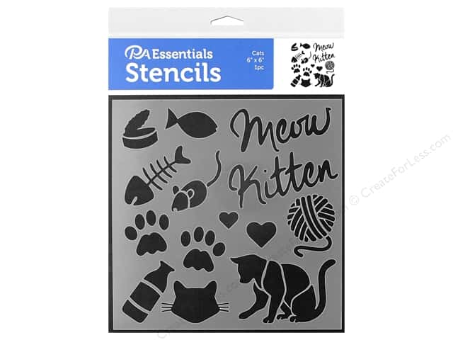 PA Essentials Stencil 6 in. x 6 in. Cats