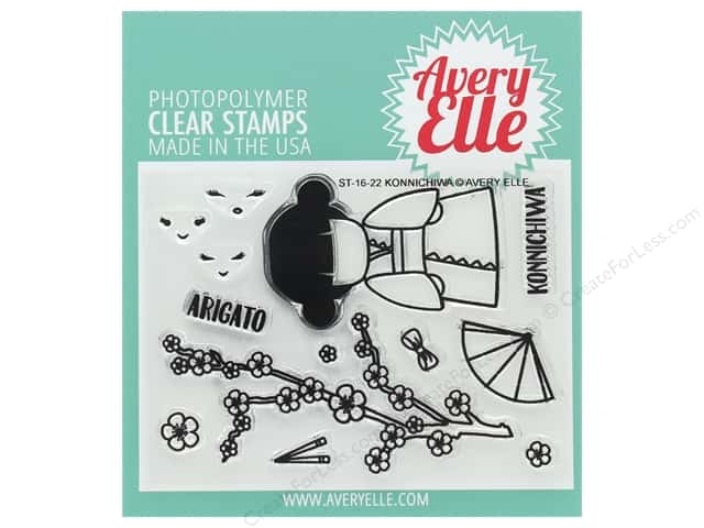 Avery Elle Clear Stamp Konnichiwa