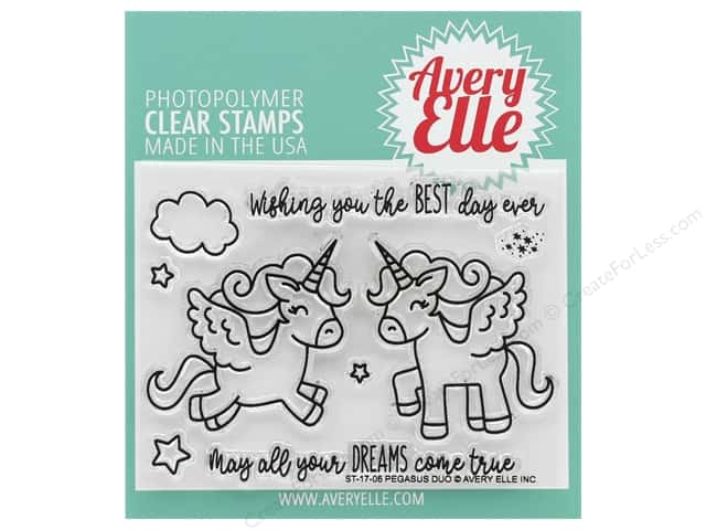 Avery Elle Clear Stamp Pegasus Duo