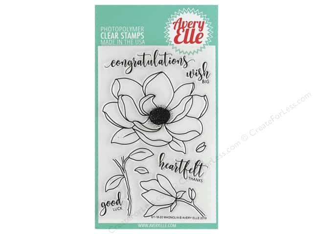 Avery Elle Clear Stamp Magnolia