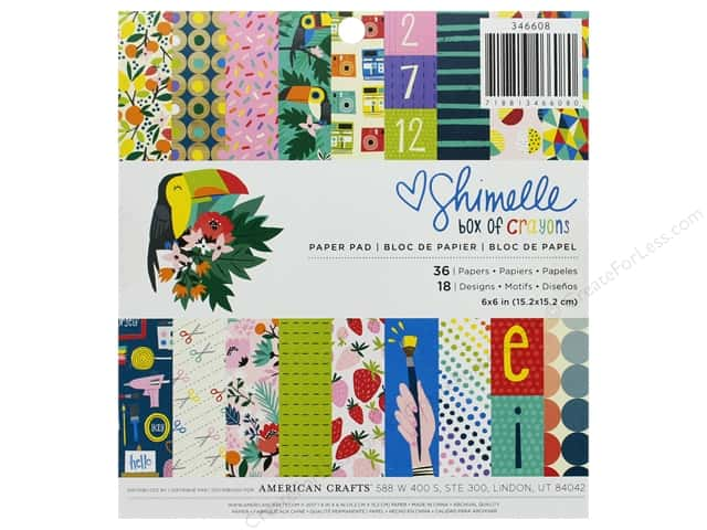 American Crafts Collection Shimelle Box Of Crayons Paper Pad 6 in. x 6 in.