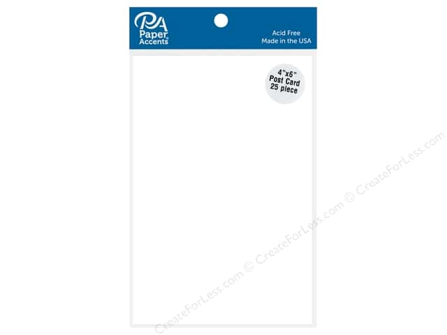 Paper Accents Post Card 4 in. x 6 in. White 25 pc