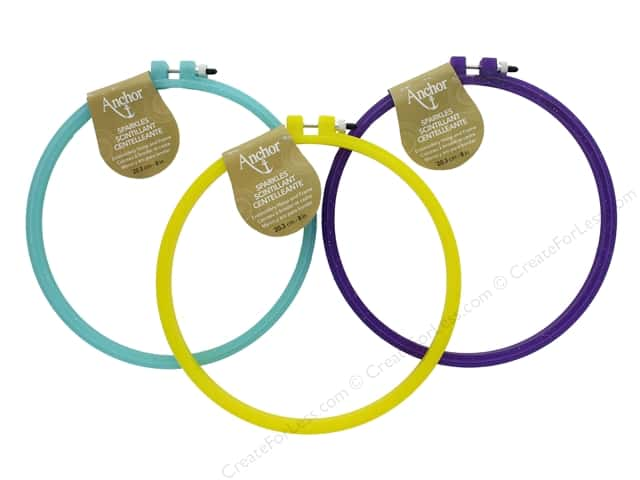 Coats & Clark Anchor Hoop & Frame Sparkle 8 in. Assorted
