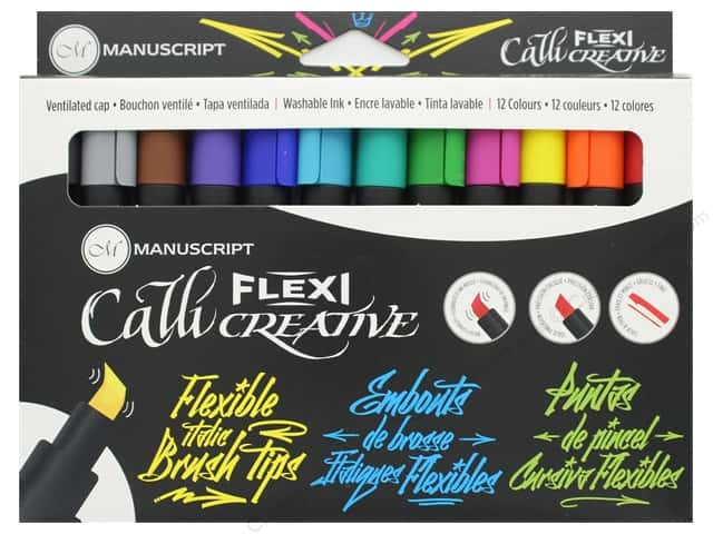 Manuscript Callicreative Marker Flexi Tip 12 pc