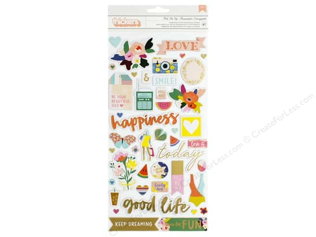 American Crafts Thickers Stickers Words Pick Me Up