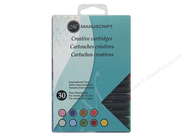 Manuscript Creative Ink Cartridge 30pc Assorted