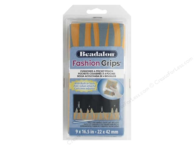 Beadalon Tool Fashion Grips Bag Tiger Orange