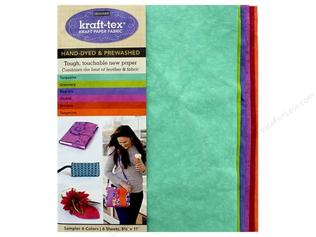 C&T Publishing Kraft Tex Kraft Paper Fabric Sampler Pack 6 pc.