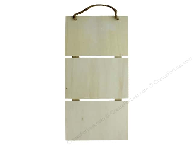 Darice Wood Pallet Triple Hanging Unfinished 6 in. x 13 in.
